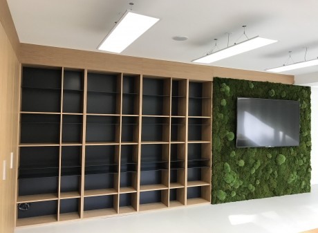 Zelená a machová stena