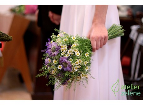 Poľná svadobná kytička